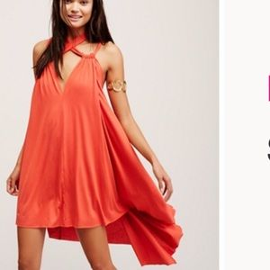 Free People red Bar Harbor strappy dress